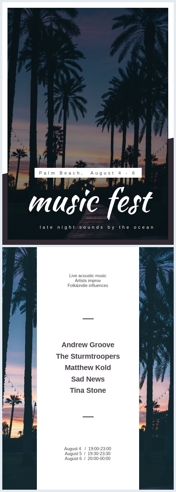Music Festival Flyer Template Example