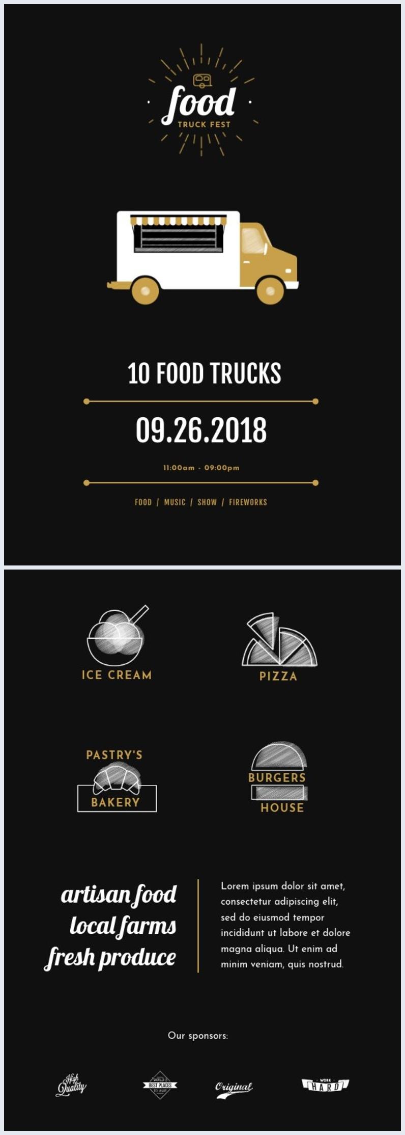 Street Food-Festival Flyer-Vorlage