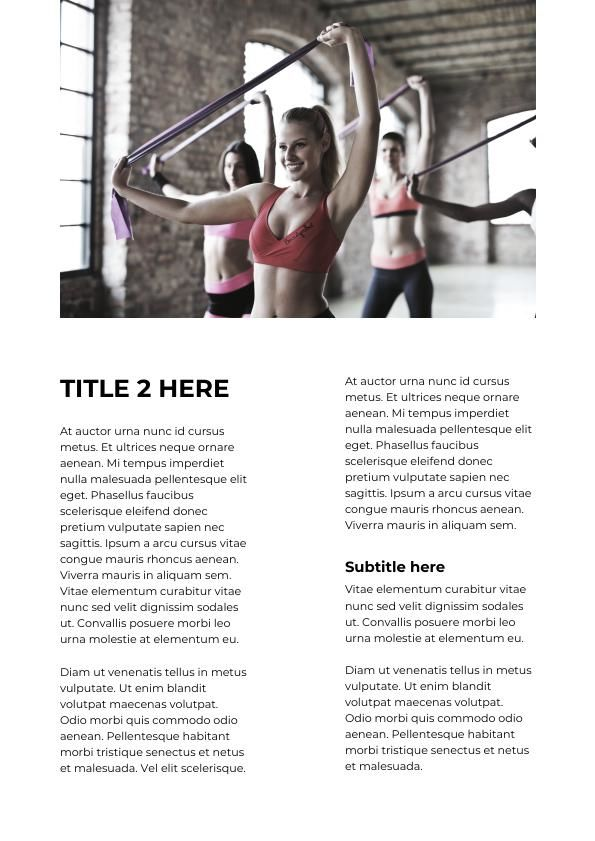 Sports Magazine Template Example