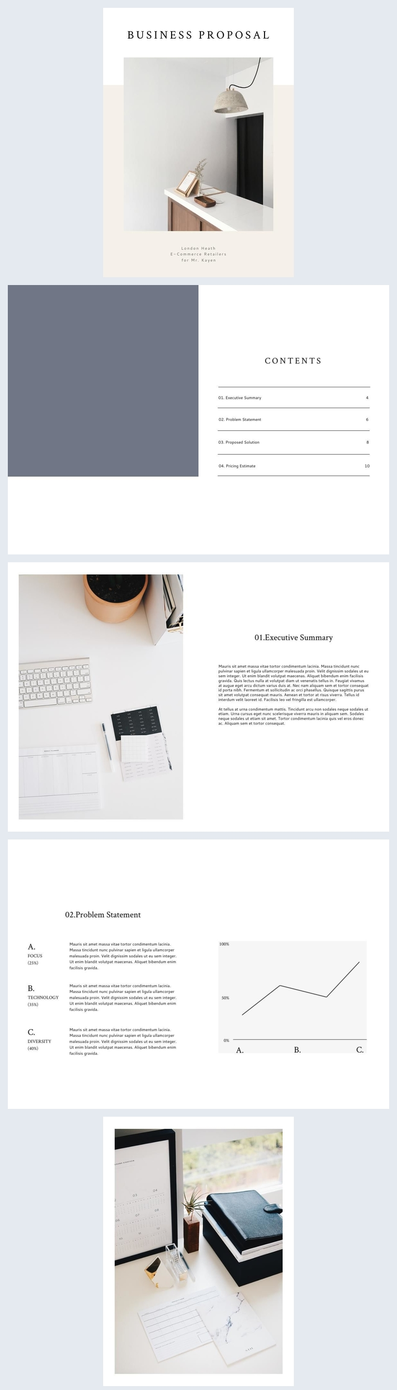 Elegant Business Proposal Template & Example