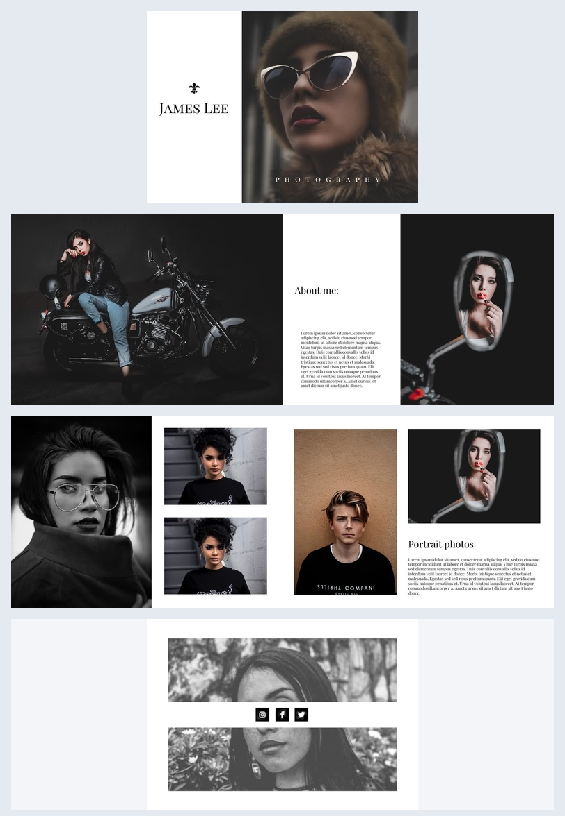 Portrait Photography Portfolio Template Flipsnack