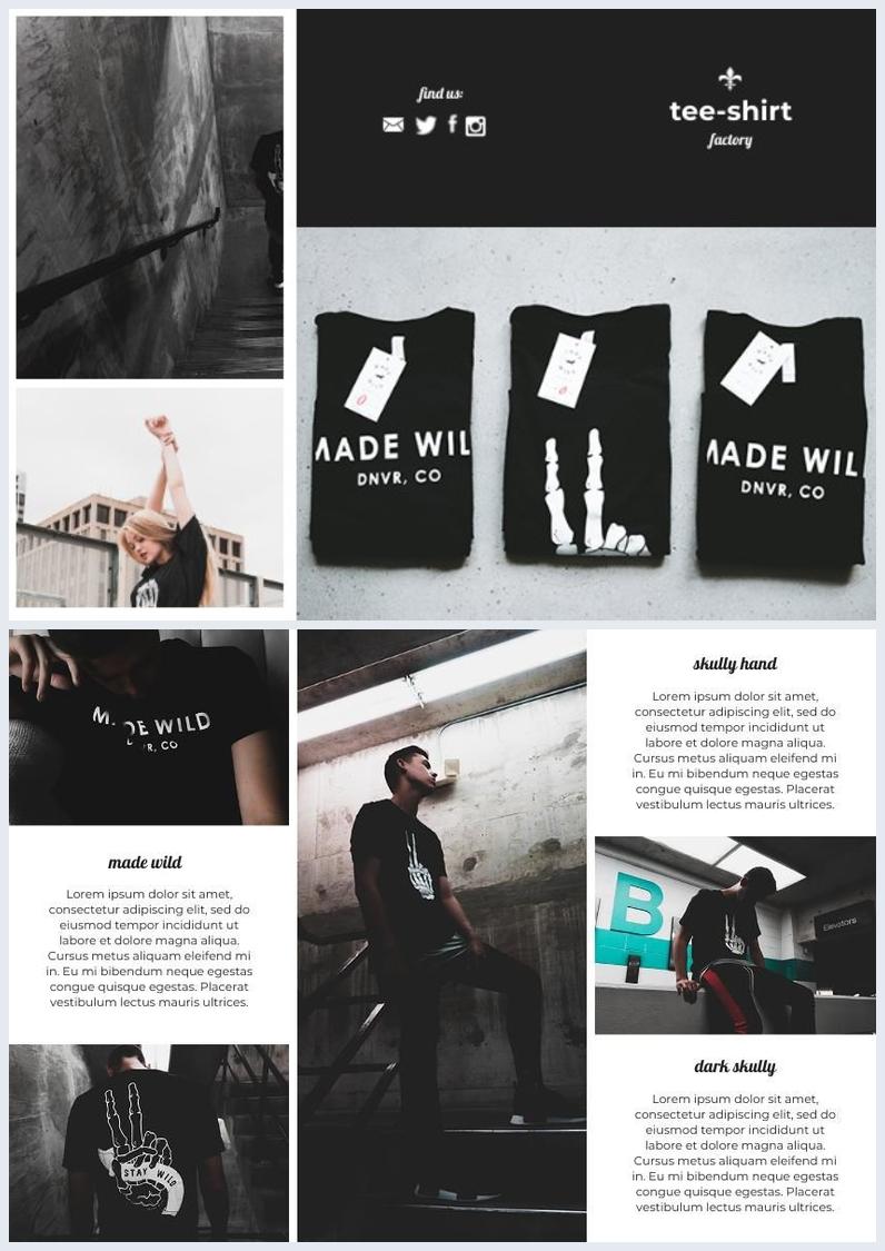 Modèle de brochure à trois volets de boutique de vêtements