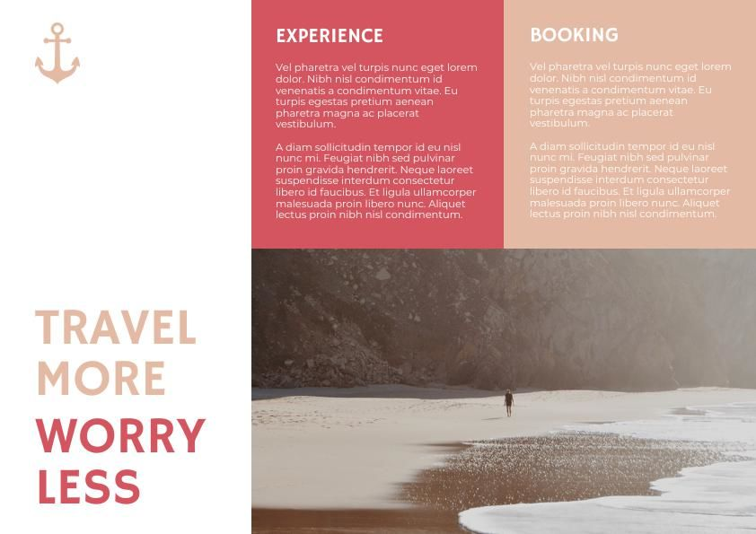 Pastel Travel Trifold Brochure Template