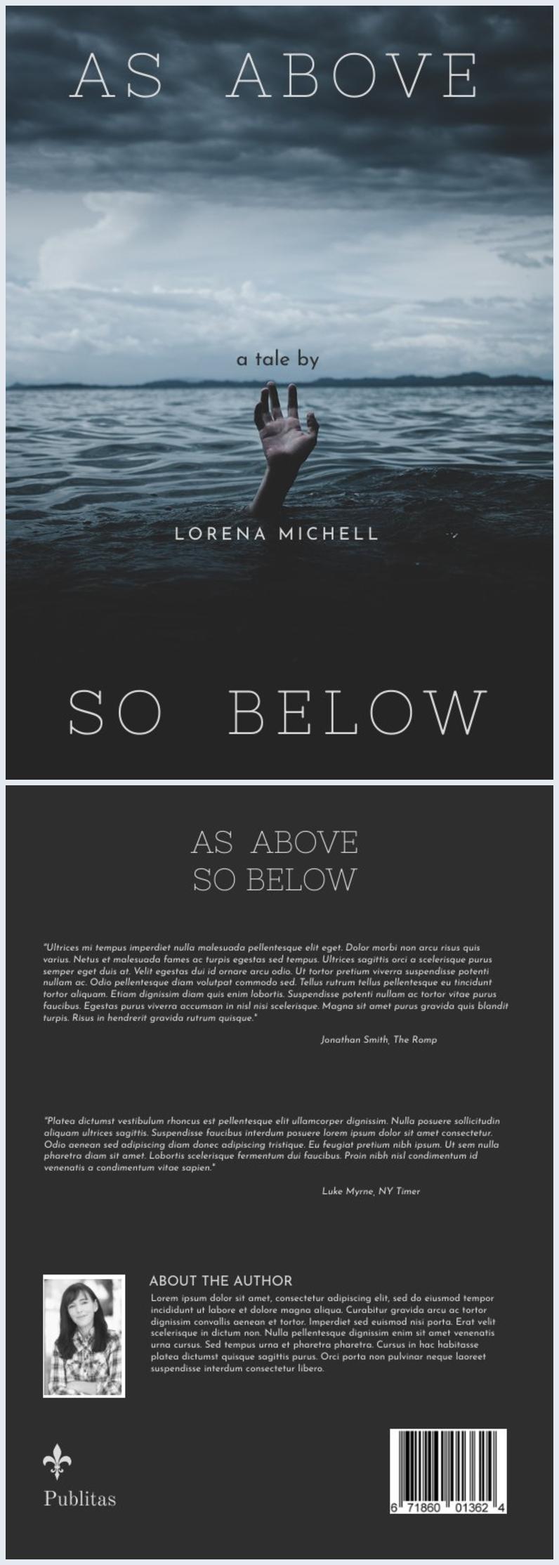 A4 Book Cover Template & Design