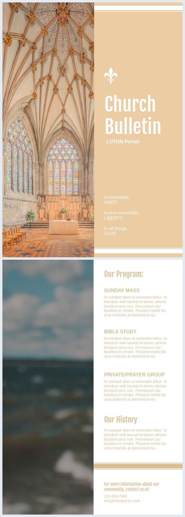 Vorlage für eine Gemeindezeitschrift & Design