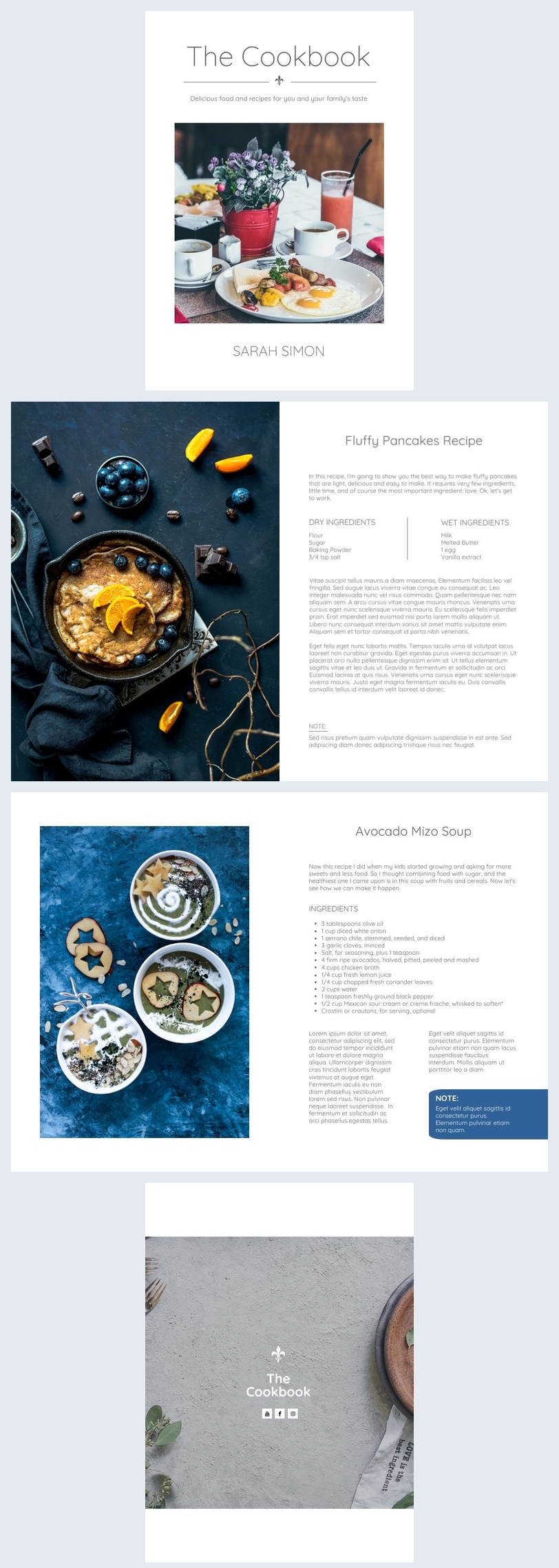 Family Cookbook Template