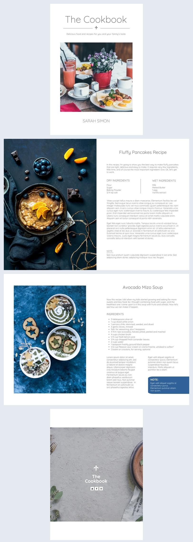 Modello per libro di cucina familiare