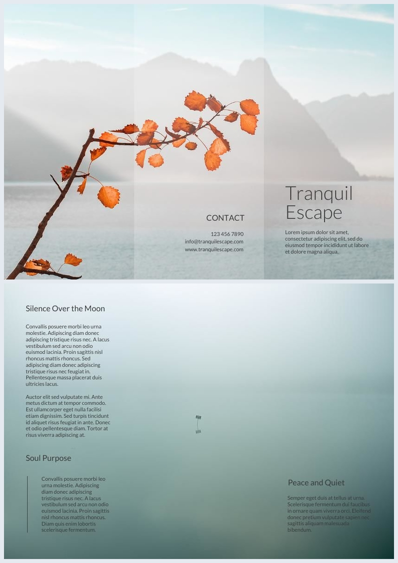 Trifold Pamphlet Template & Design