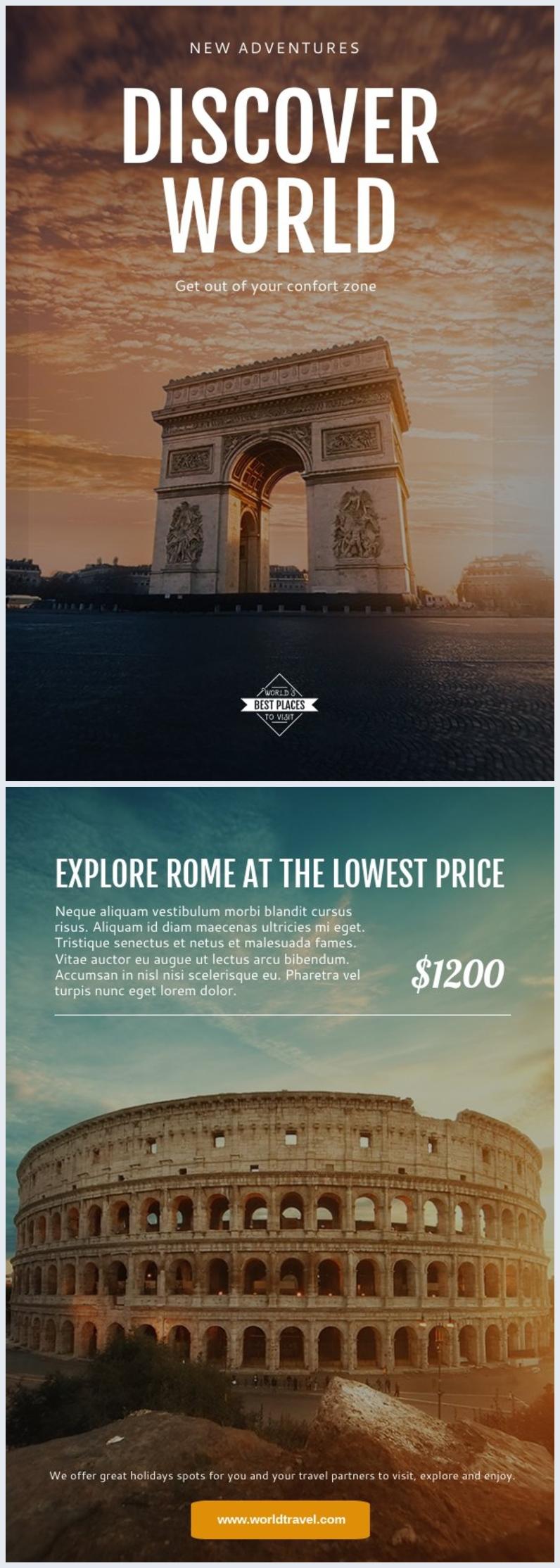 Travel Tours Flyer Template & Design