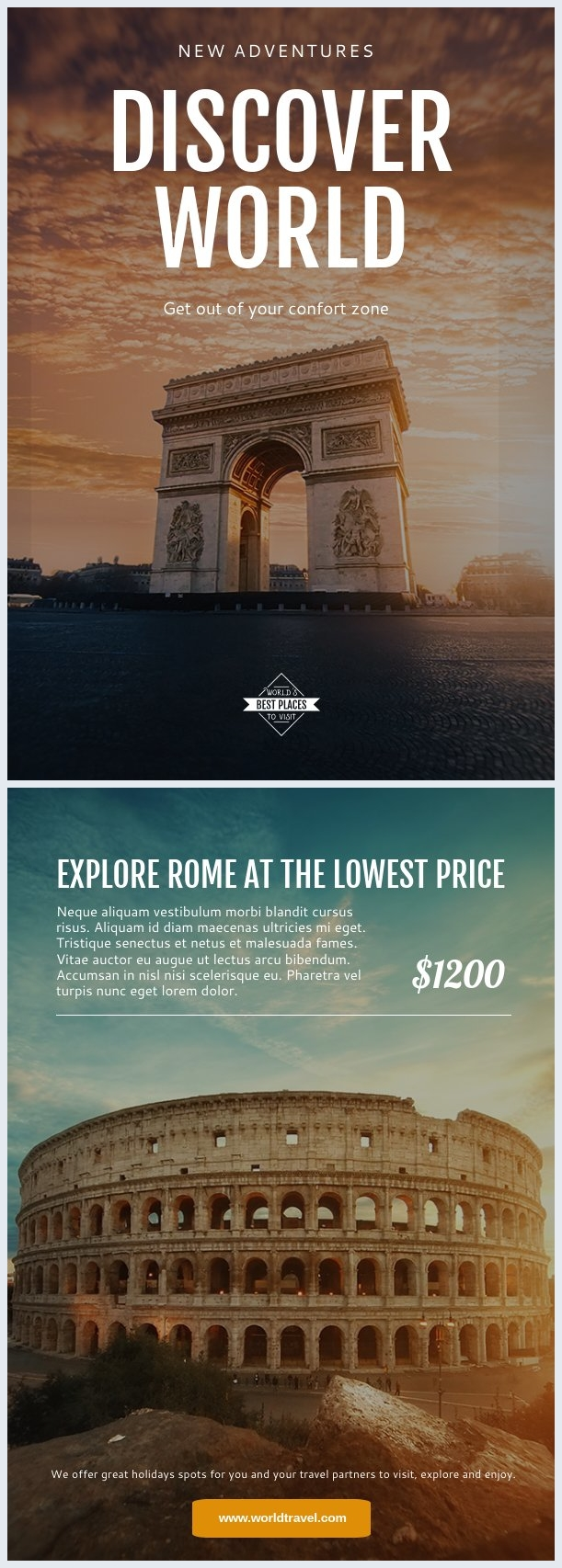 Travel Tours Flyer Template & Design
