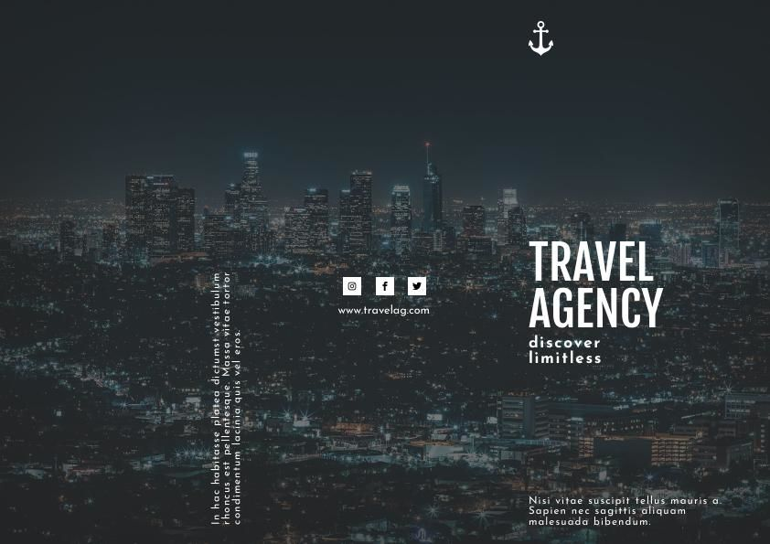 Travel Agency Trifold Brochure Template & Design