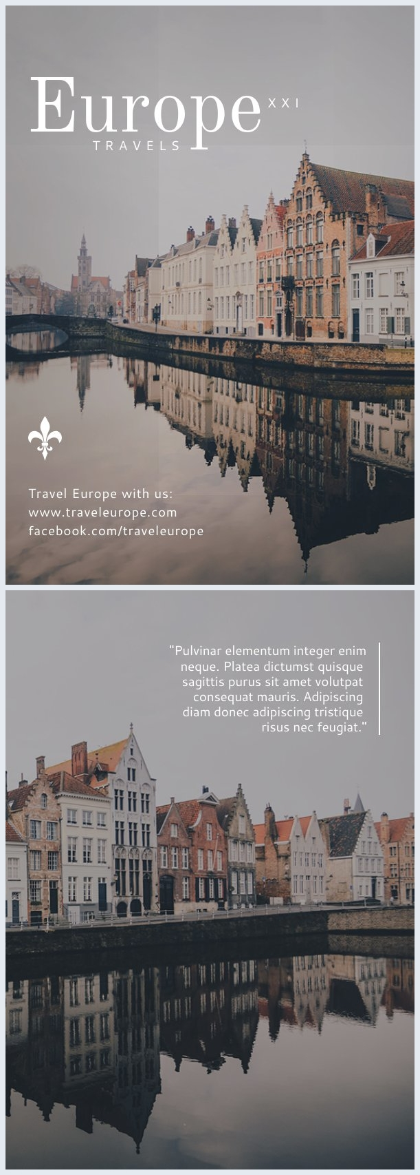 Beautiful City Travel Flyer Template & Design
