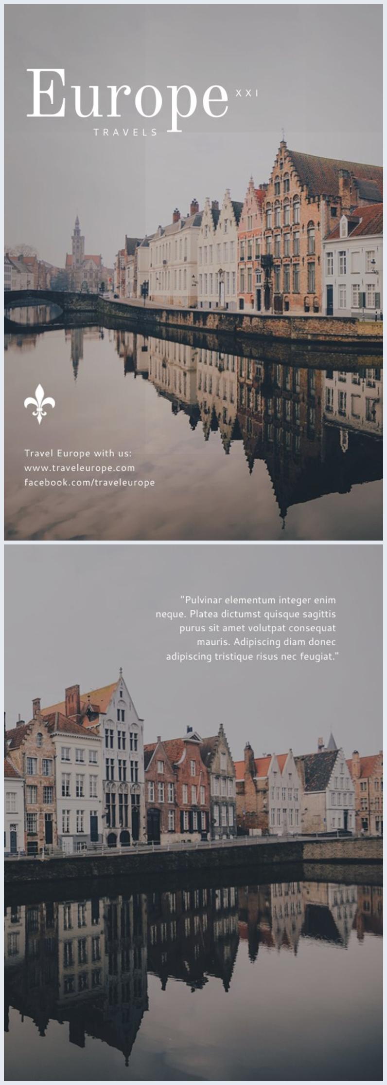 Schöne Städtereisen Flyer-Vorlage & Design