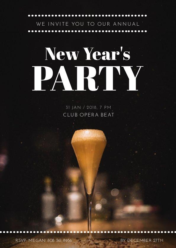 Nieuwjaarsfeest Uitnodiging Flyer Design