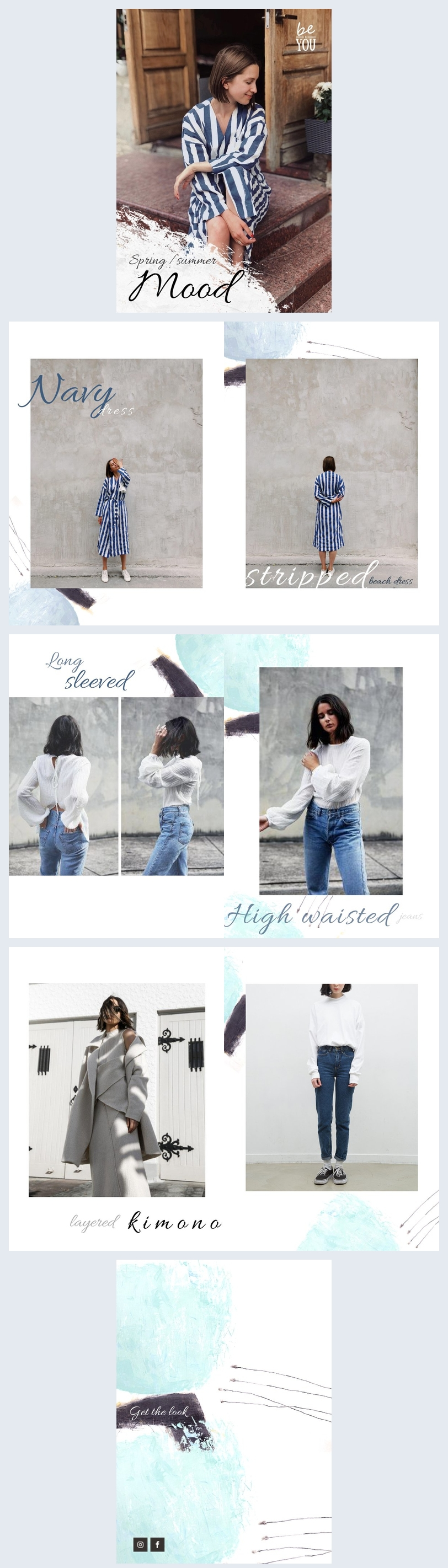 Modèle et design de lookbook de mode
