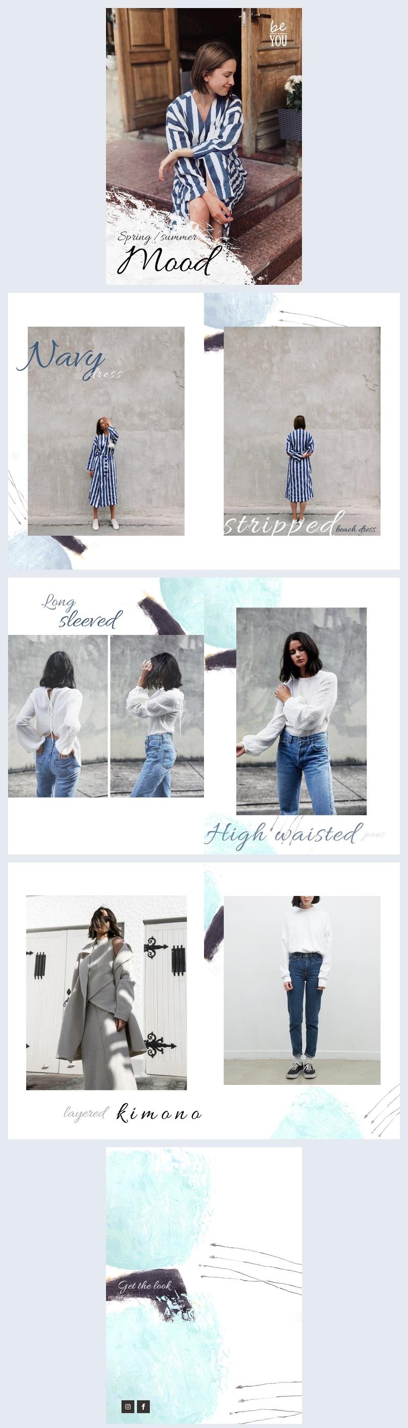 Mode Lookbook-Vorlage & Design