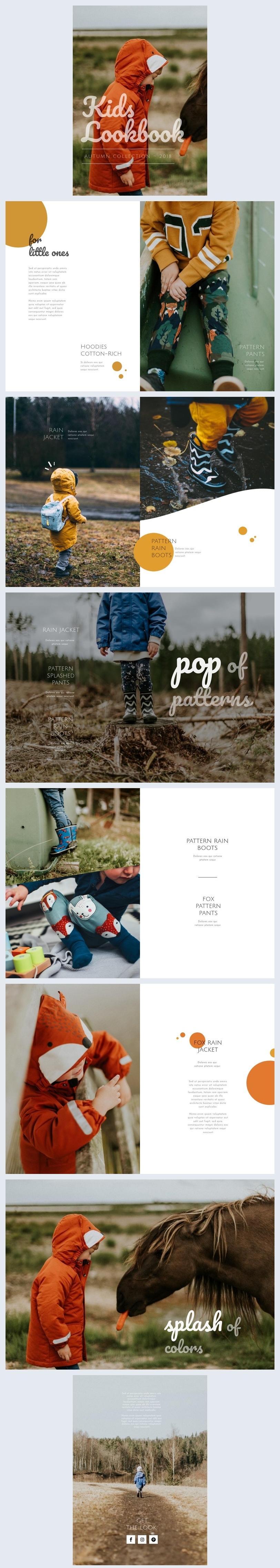 Kids Fashion Lookbook Template