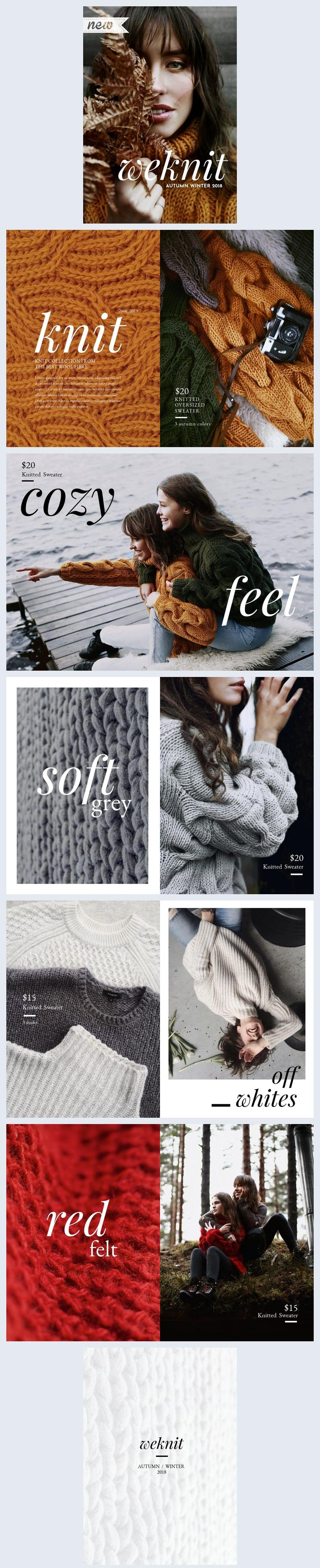 Modèle et conception de lookbook de la mode moderne