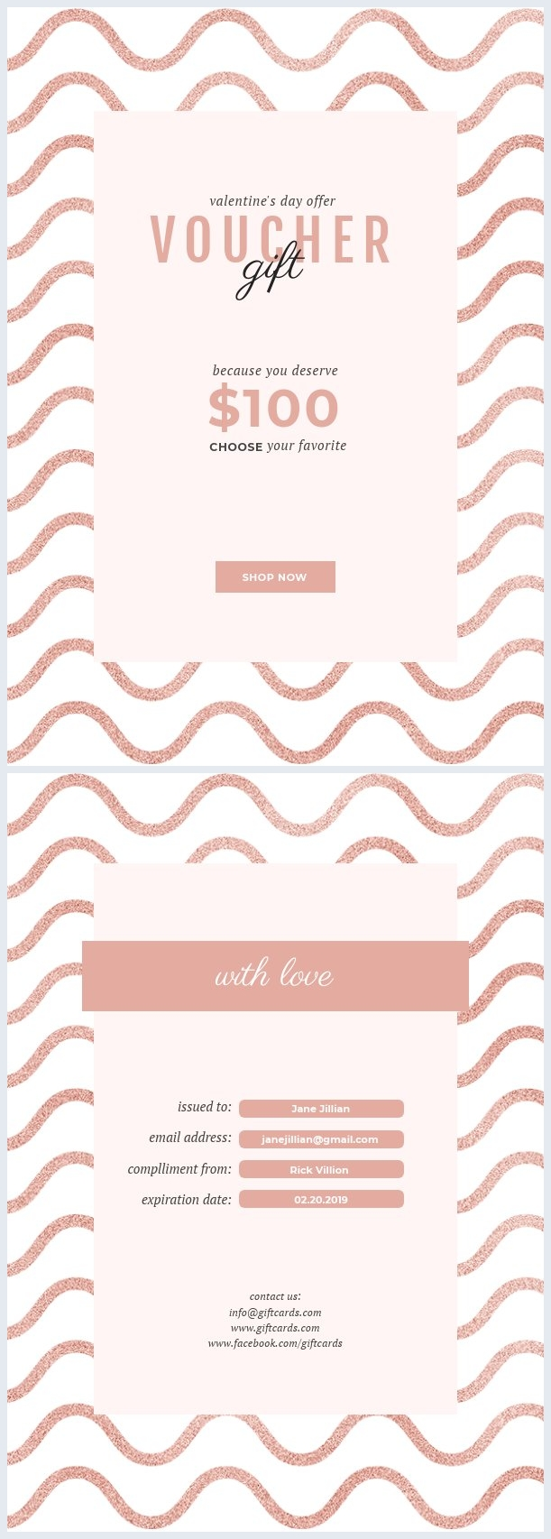 Valentine's Day Gift Certificate Template
