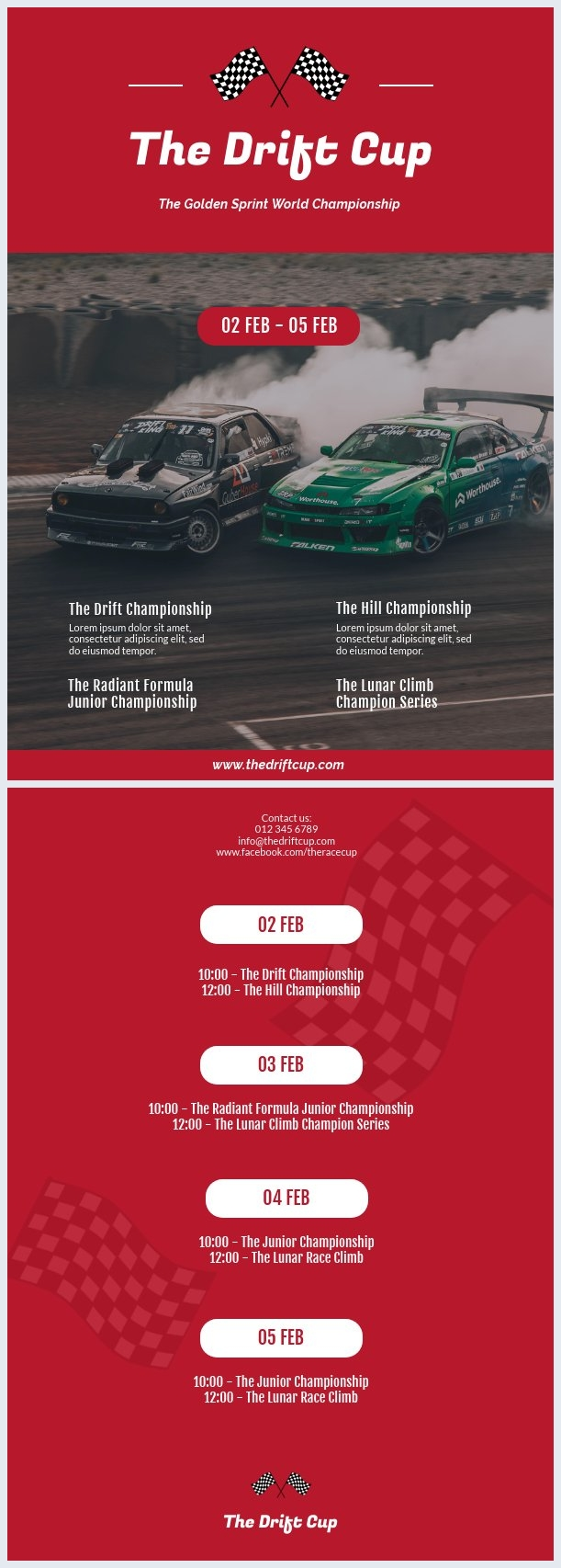 Car Racing Program Flyer Template
