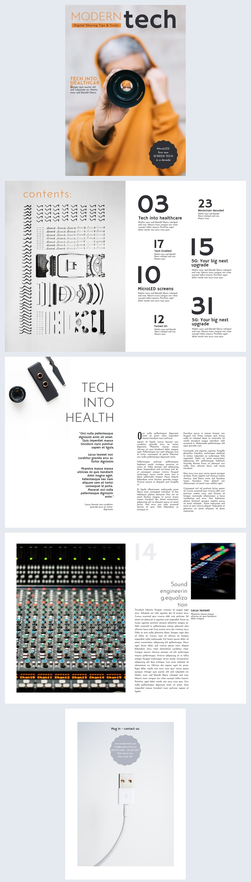 Modern Tech Magazine Template