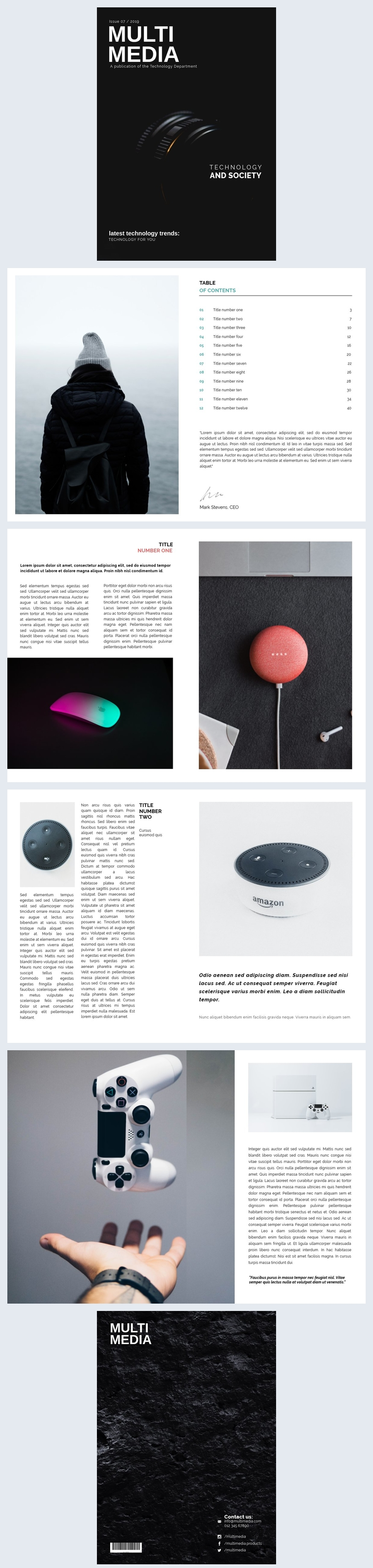 Tech / Technology Magazine Template