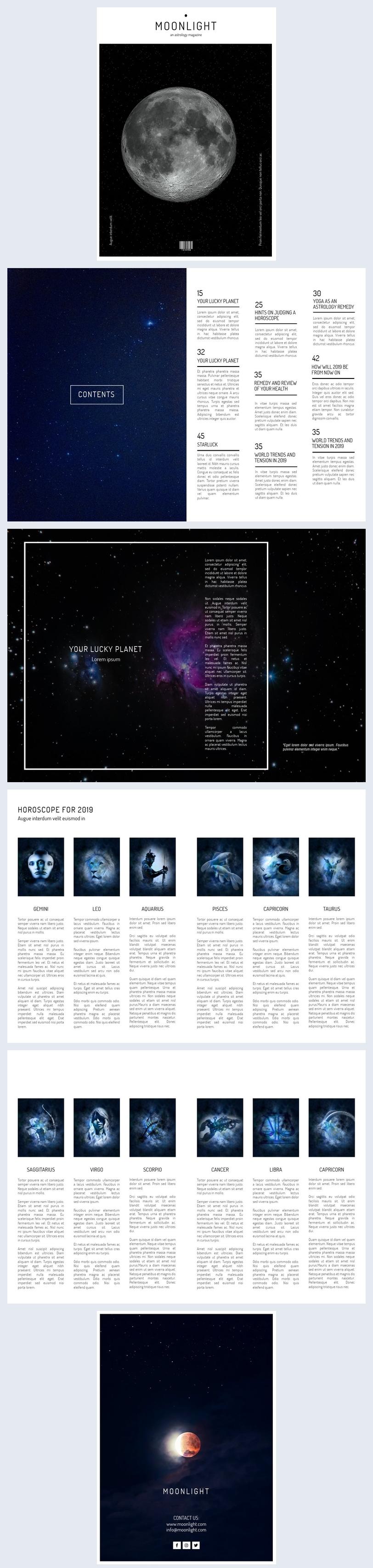 Magazinvorlage für Astrologie