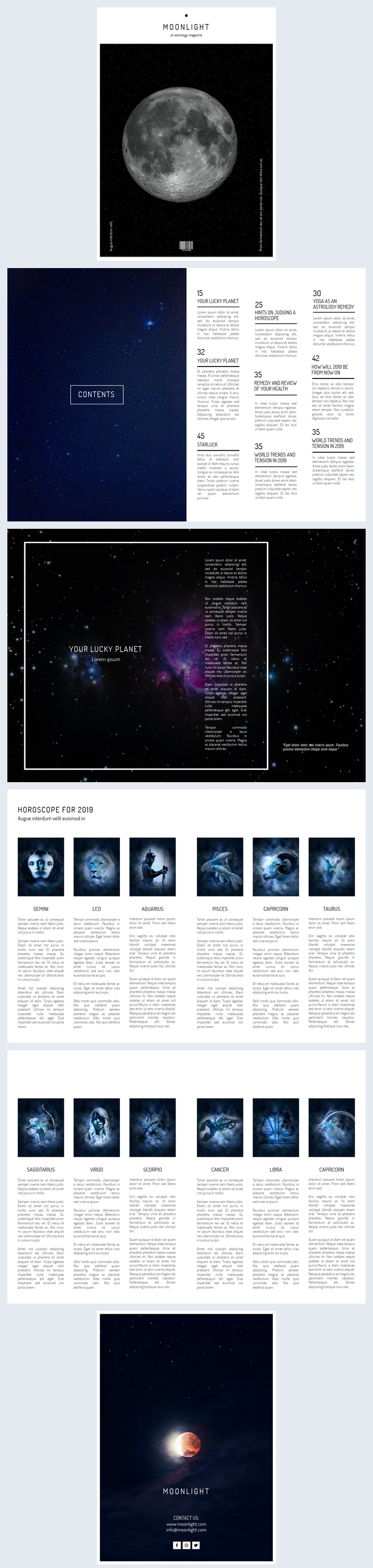 Astrology Magazine Template