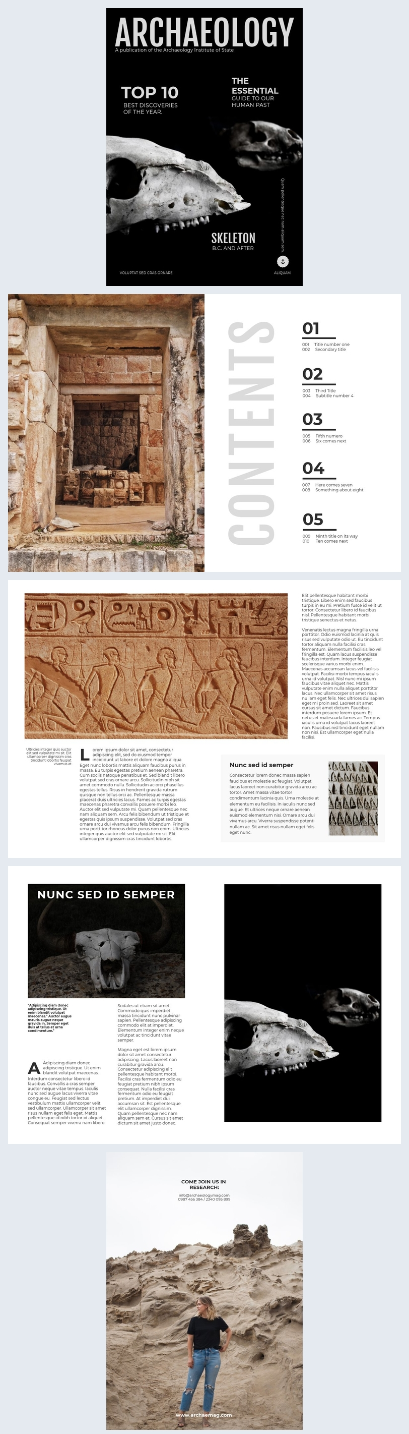 Science in Archaeology Magazine Template