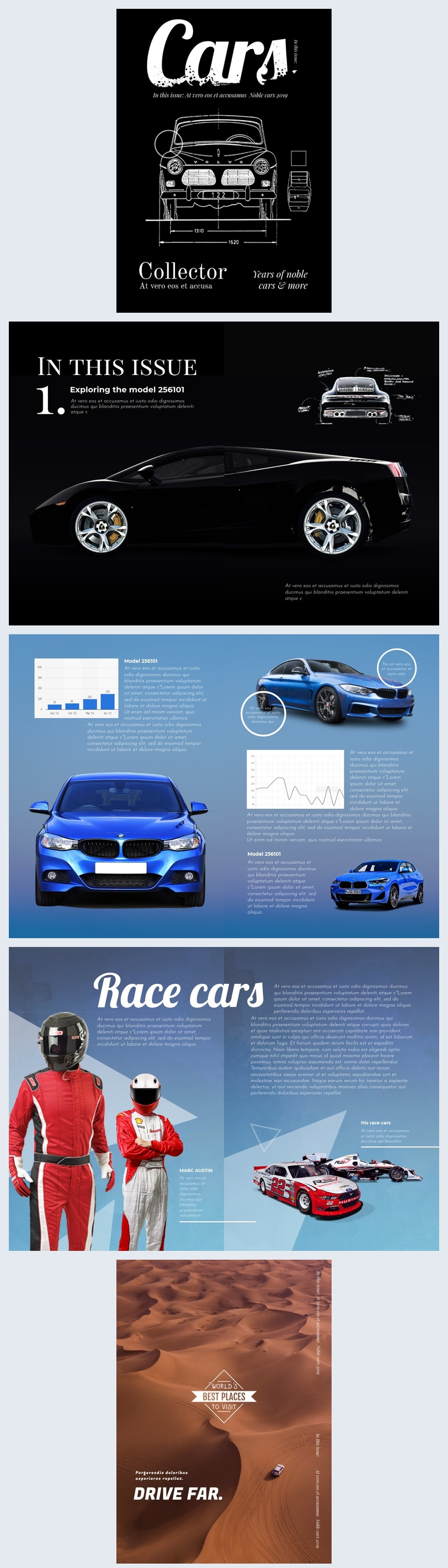 Car Magazine Template & Design