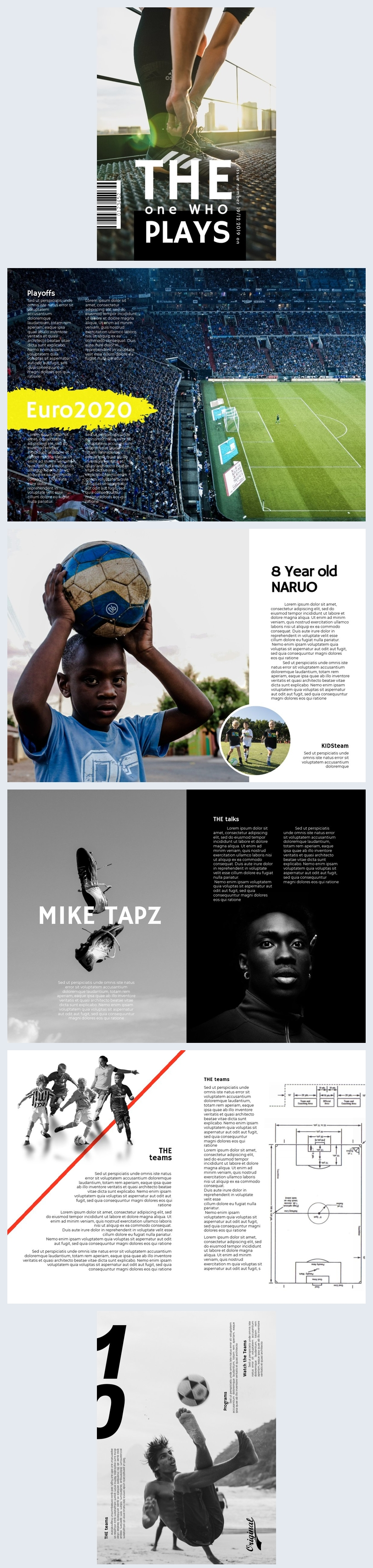 Soccer / Football Magazine Template