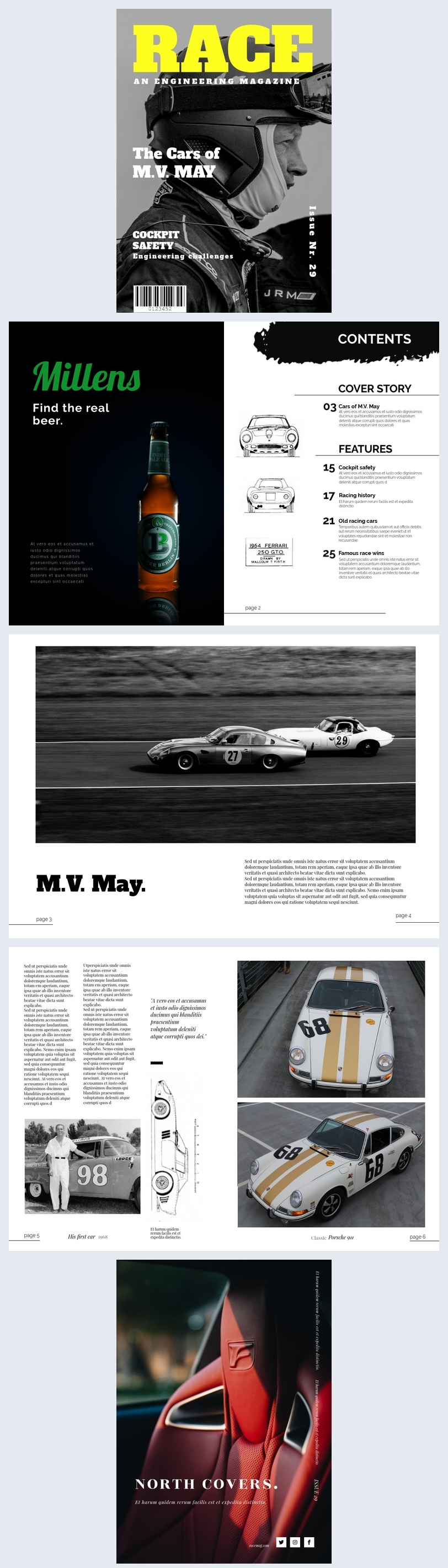 Car Racing Magazine Template
