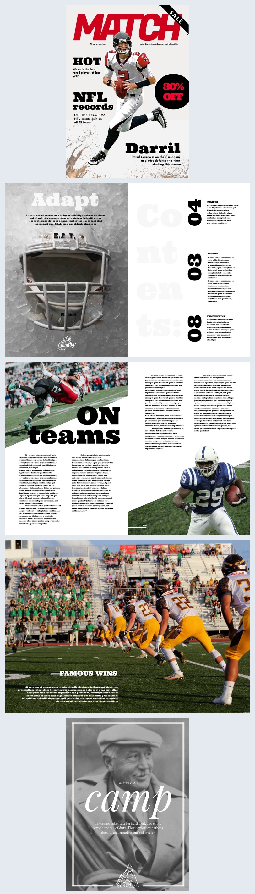 American Football Magazine Template