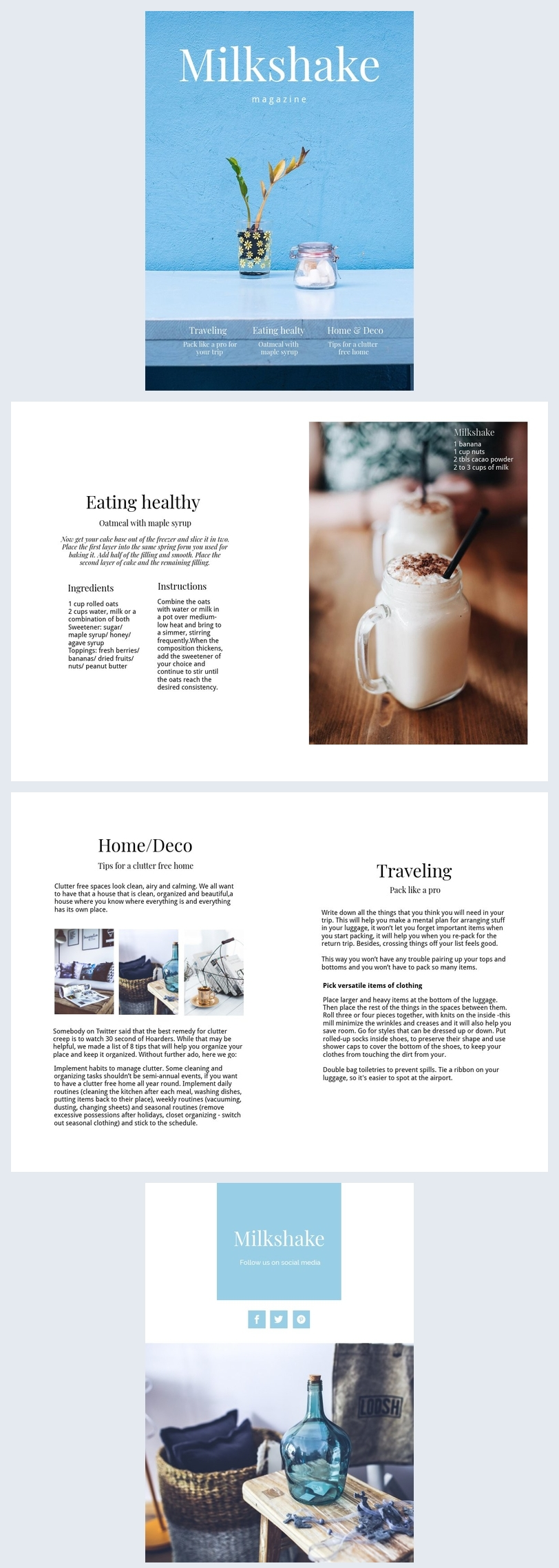 Healthy Food Magazine Template