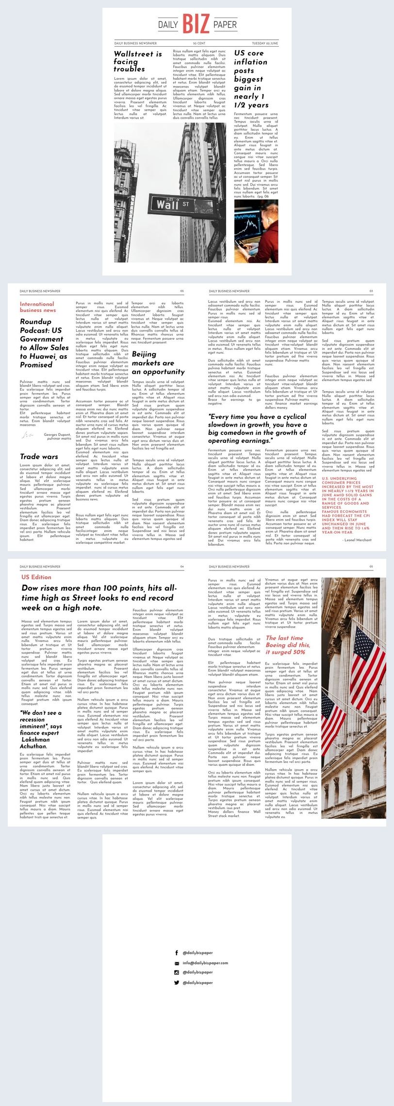 Digital Newspaper Template