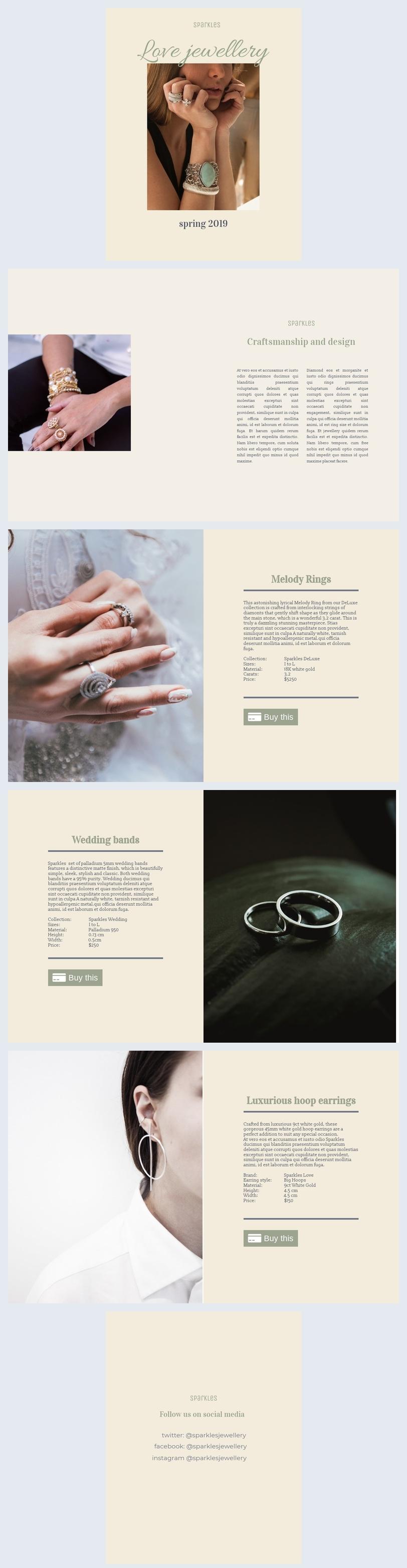 Modelo de Catálogo de Anéis e Acessórios