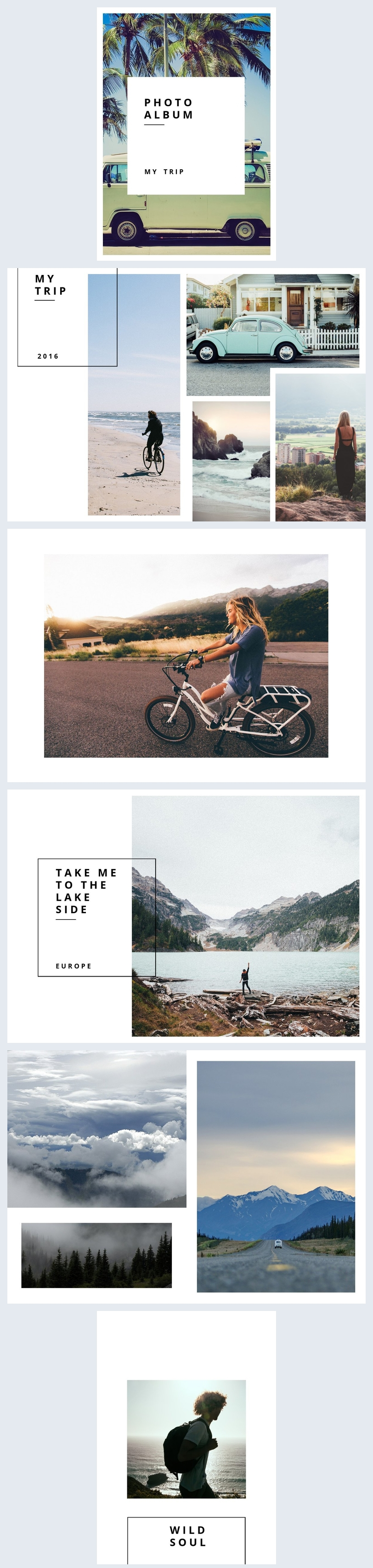 Trips & Travel Photo Album Template