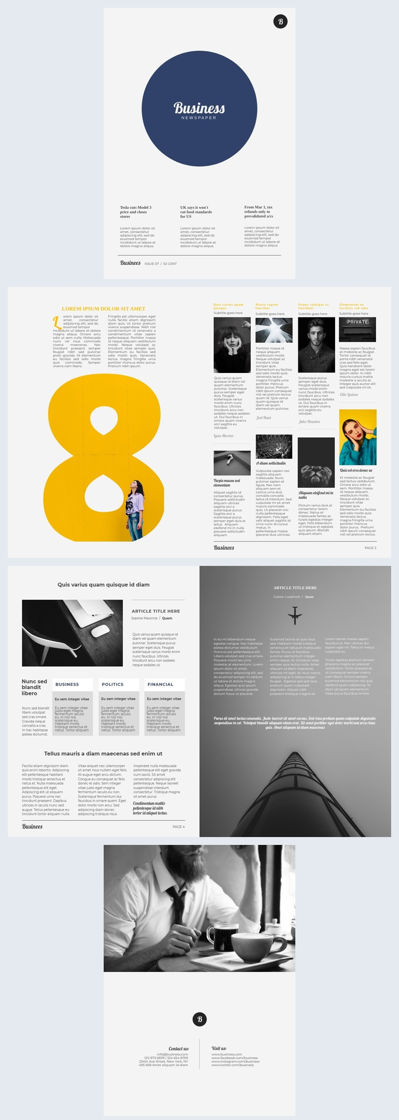 Business Newspaper Template