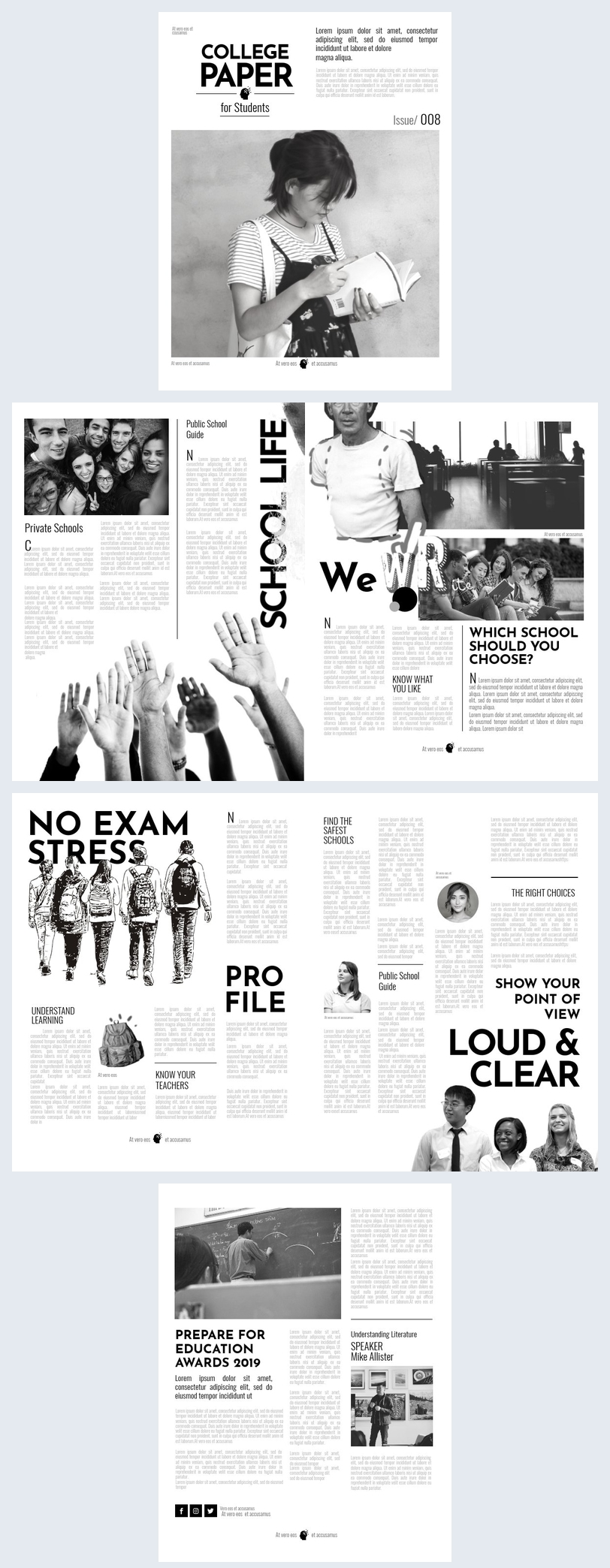 Modern College Newspaper Template