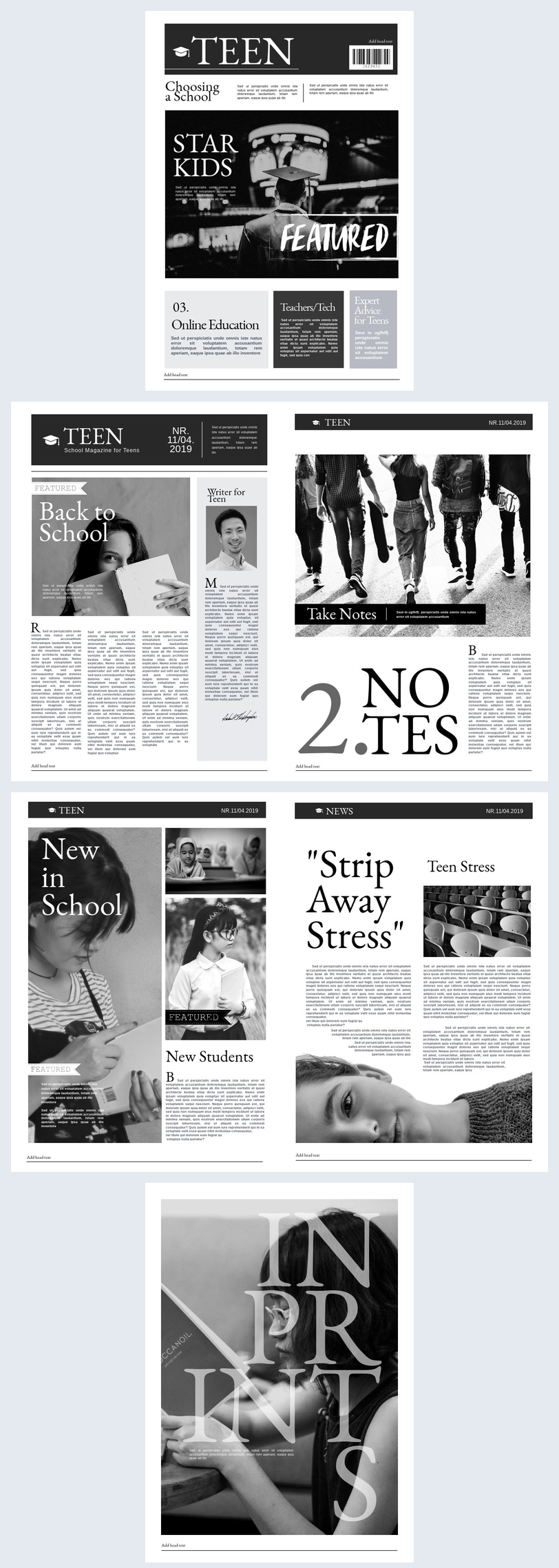 Newspaper For School Template