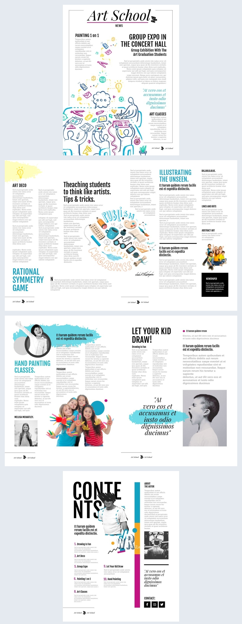 Colorful School Newspaper Template