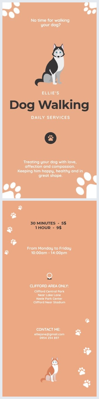 Dog Walking Flyer Template & Design