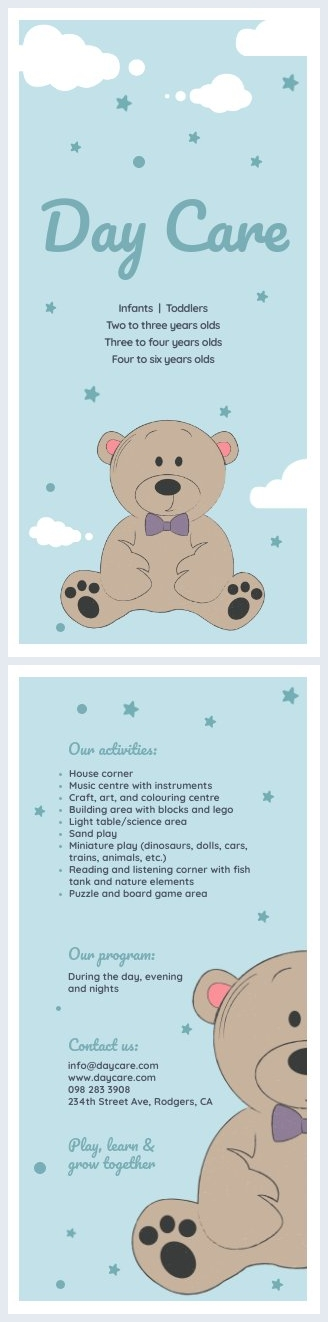 Pastel Daycare Flyer Template