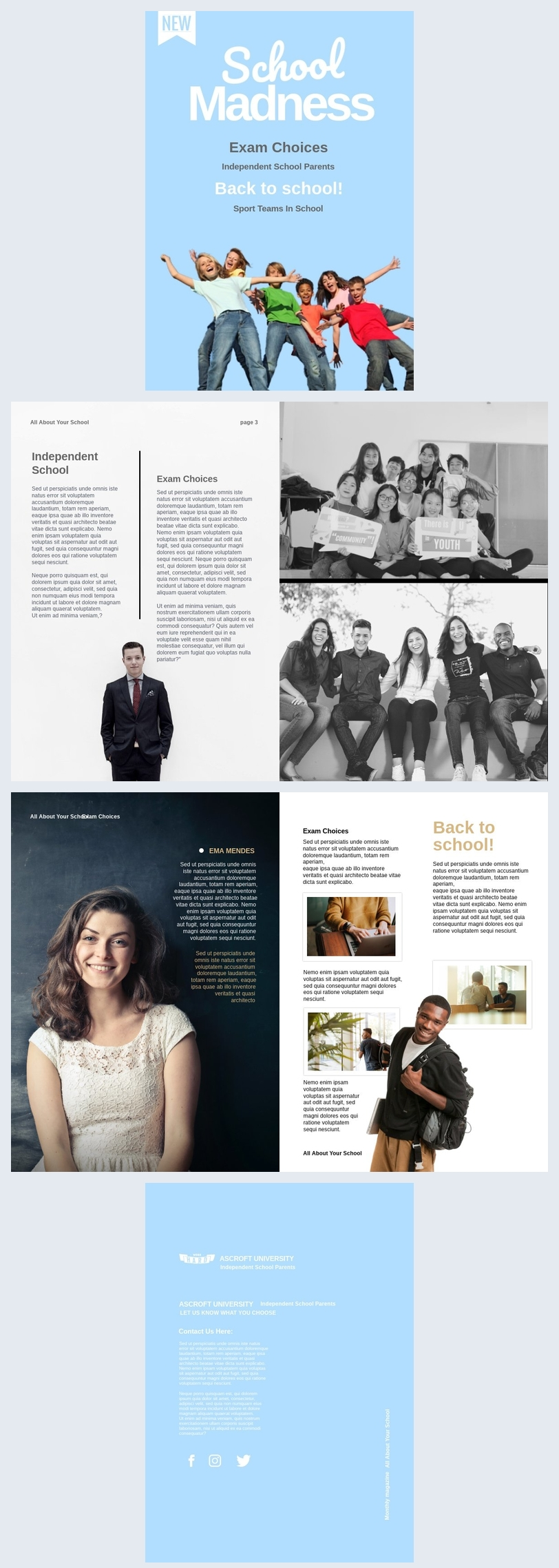 Modern School Magazine Template