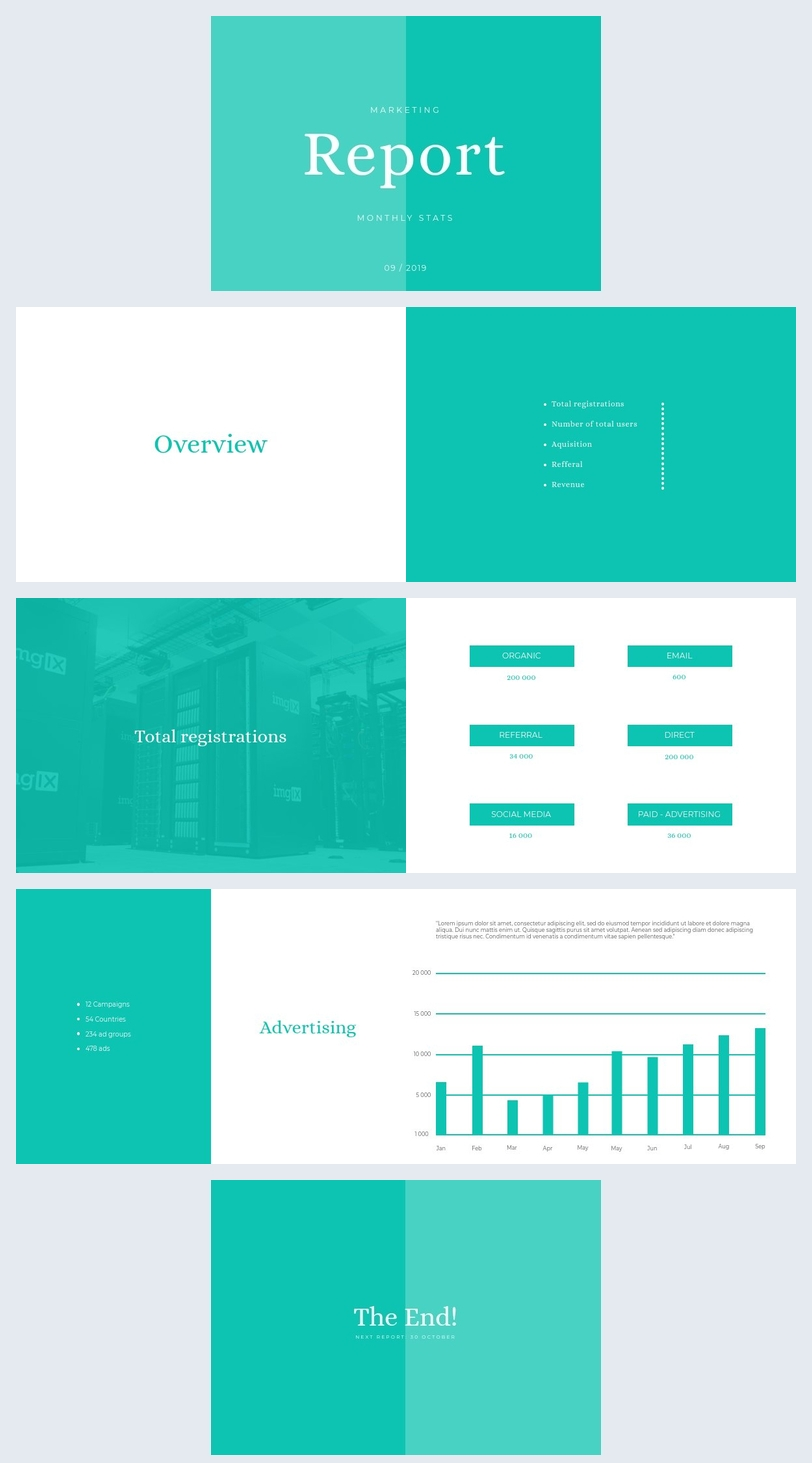 Monthly Marketing Report Template Flipsnack
