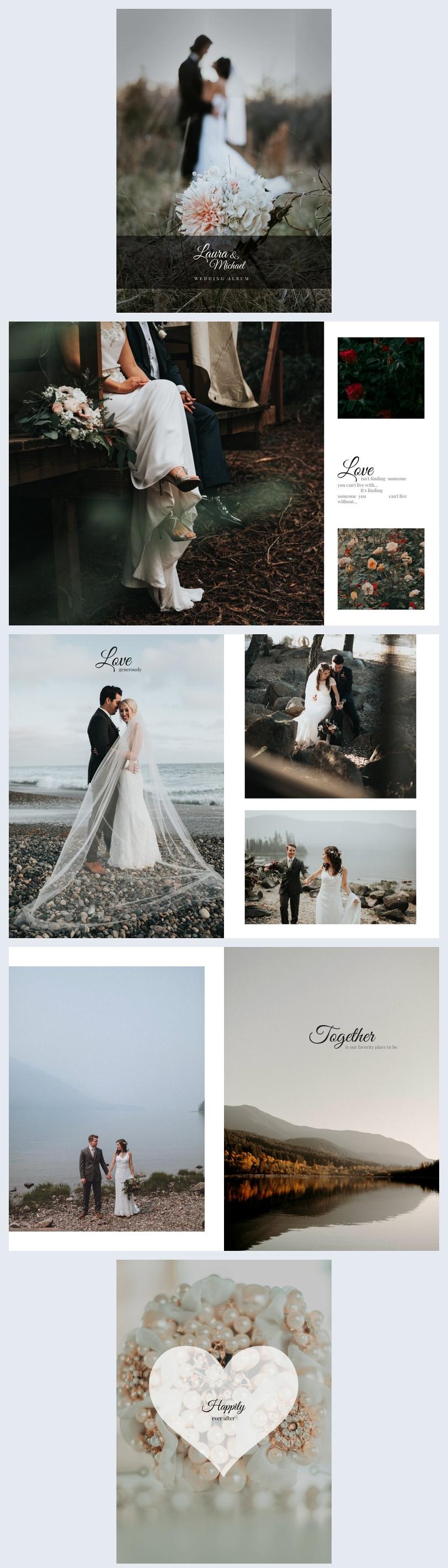 Minimalistic Wedding Photo Book Template