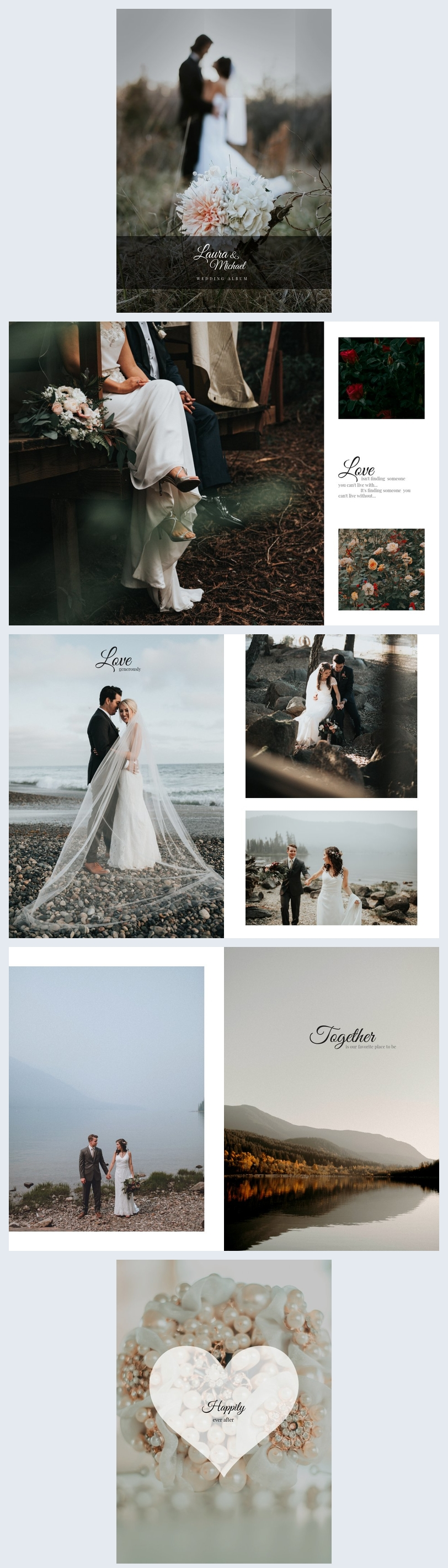 Minimalistic Wedding Photo Book Template
