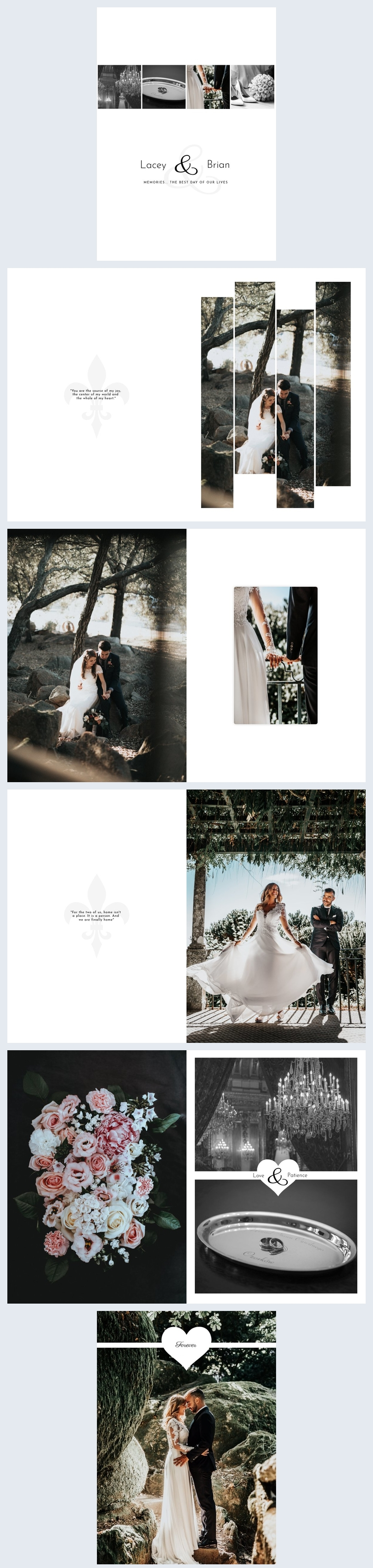 Modern Wedding Photo Album Template