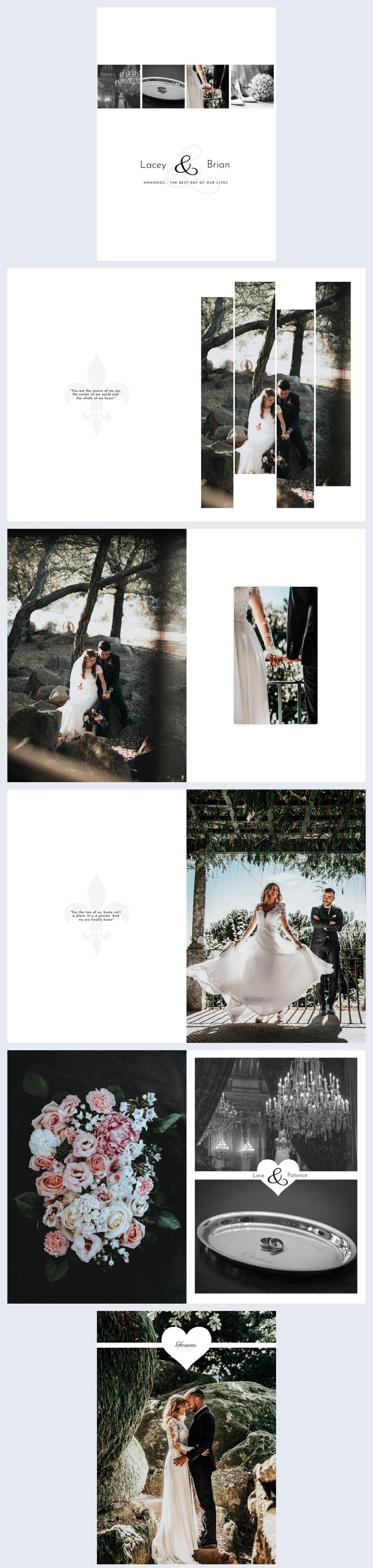 Moderne Hochzeitsfotoalben-Vorlagen
