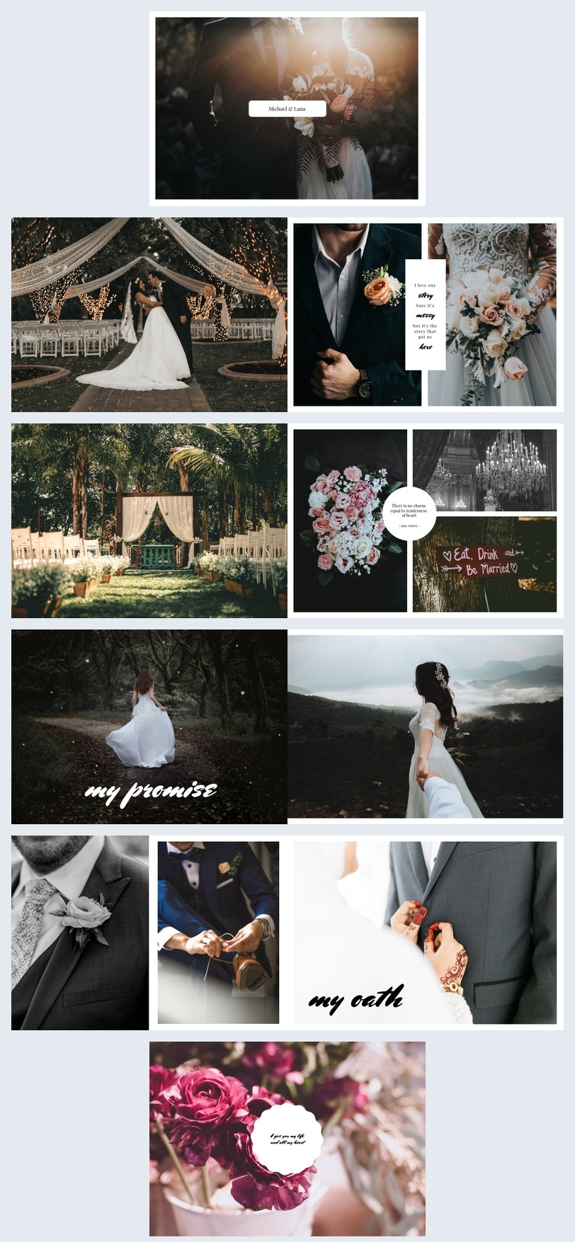 Online Wedding Photo Album Template